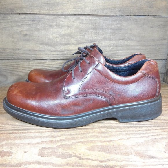 Ecco Brown Leather Lace Up Formal Dress Shoes